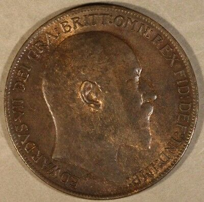 1910 Great Britain Penny Nice High Grade             ** FREE U.S. SHIPPING **