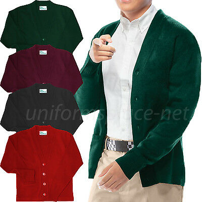 Cardigan Sweater Classroom Boys, Youth V-Neck Cardigan Sweaters School Uniforms