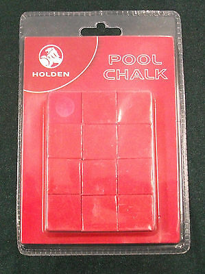 Holden Pool Chalk Official Licensed Merchandise 12 Red Chalks