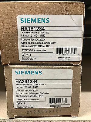 Siemens HA161234 Auxilary Switch ** New In Box, Free Shipping **