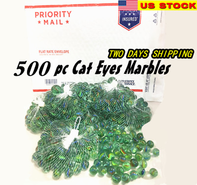 "Lot of 500 Glass Marbles 6 lbs Glass 5/8"" 16mm Bulk Wholesale Toy"