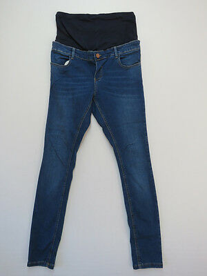 *C-168 ASOS Maternity STRETCH SKINNY BLUE Denim Jeans-Size 12 AS NEW