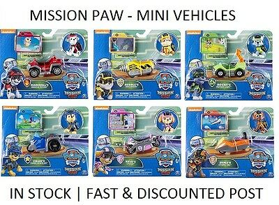 Paw Patrol - Mission Paw MINI VEHICLES -  as seen in *MOVIE* - CRUISER, PUP PAD