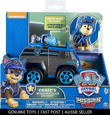 Paw Patrol Chases Chase's Mission Police Cruiser and Chase MISSION PAW Licensed