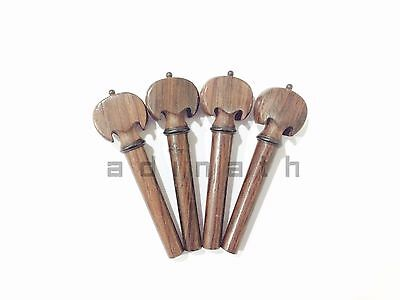 Rosewood Baroque Model Pegs & Endpin set with Ebony Accents for Violin & Viola
