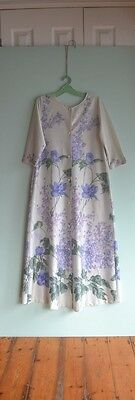 Vintage purple & green dressing gown size 12  Ralston