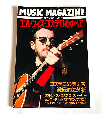 All about ELVIS COSTELLO JAPAN PHOTO & TEXT BOOK 1987 Attractions Stiff F-Beat