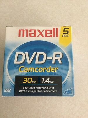 Maxwell 5 Pack Dvd-R For Compatible Camcorders 30 Mins 1.4 Gb