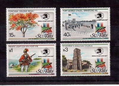 St. Kitts, World Stamp Expo 1989 #273/76 Set Mint Never Hinged !!