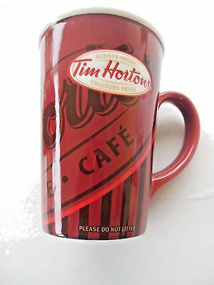 Tim Hortons Always Fresh Vintage Red Mug Cup Coffee Tea Cocoa #008   A-5
