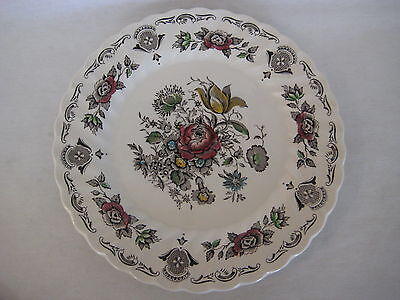 "Vintage Myott Bouquet Staffordshire Dinner Plate, 10"" Diameter(Chip On The Back)"