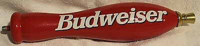 Vintage Budweiser Red 11 Inches Beer Wood Tap Handle ~ Bar Pub Man Cave