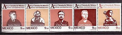 MEXICO 1983 #1335a STRIP OF 4 MINT NH, CONTEMPORARY ARTISTS !!
