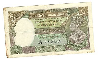 The Reserve Bank Of India 5 Rupees Note--Circulated