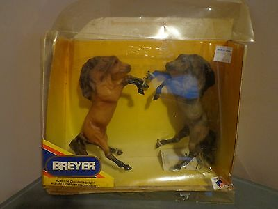 Breyer Horses The Challenger Gift Set Mesteno and Sombra In Box  #4811