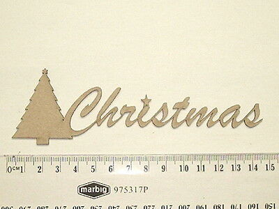 Chipboard - Christmas With Tree - Crafty Originals