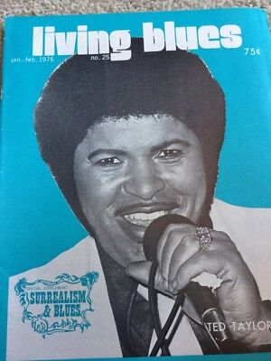 Living Blues Magazine #25 1976  Ted Taylor / Surrealism Blues