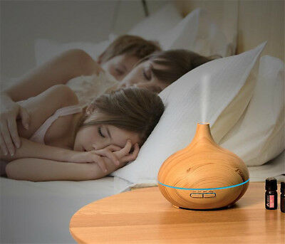 Aroma Essential Oil Diffuser 300ml Ultrasonic Mist Air purifier Aromatherapy US