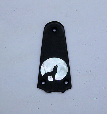 Truss Rod Cover with Wolf Silhouette Inlay will fit Taylor 3 Hole