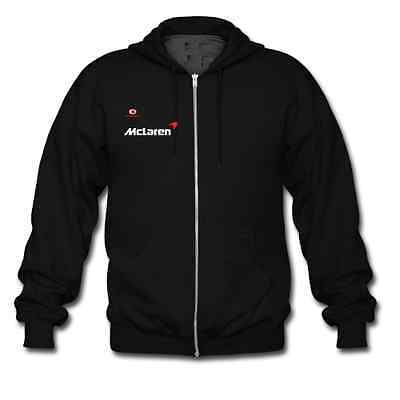 Vodafone Mclaren Car Racing Sport Hoodie Men Full Zip Sweat shirt Hooded Gildan