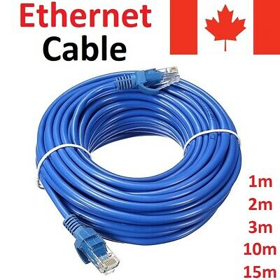 Blue CAT5E Ethernet LAN Network Cable for Computer Router CAT 5 E 3ft 6ft 50ft