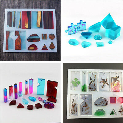 AU Silicone Mold Mould For DIY Resin Necklace Pendant Jewelry Making Craft Tool