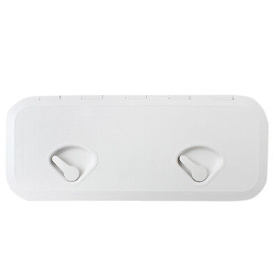 White 607mm x 243mm Access Hatch & LID-Boat/Marine/Caravan/RV/Storage