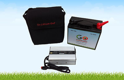 Lithium Golf Battery 'Go Lithium Golf' 12v 24Ah Battery + Free Charger and Bag