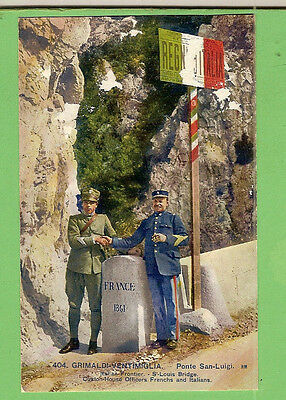 #N. Wwi  Postcard -  Customs Officers, France & Italy Border