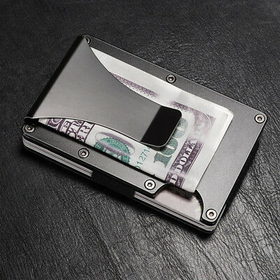 Blocking Metal Credit Cards Namecards Holder Organizer With Money Clip Humble