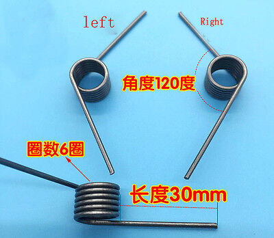 Wire Dia 1.4mm OD 12mm 6 Coils 120 Degree Torsion Spring 2Pair