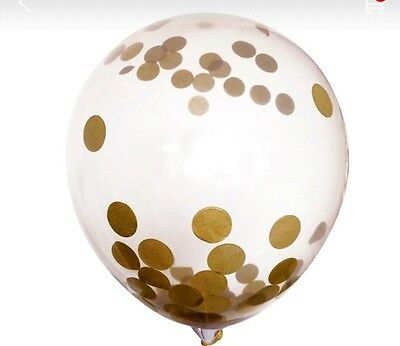 Confetti Balloons - Gold 3 Pack