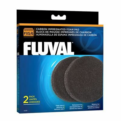 Fluval FX5/FX6 Carbon Impregnated Foam Pads (2 Pack) *GENUINE*