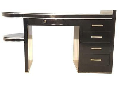 Black Art Deco Style Ladies Desk