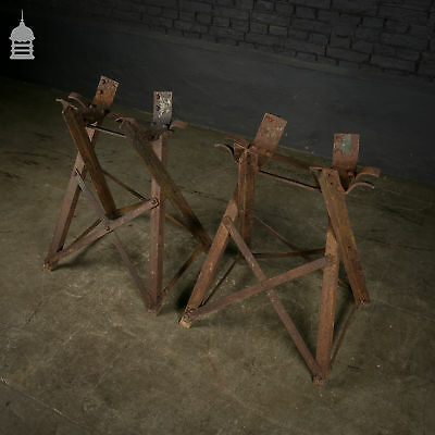Pair of Wrought Iron Victorian Barrel Stands