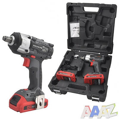 18 volt Impact Wrench Brushless motor 2 x Lithium Battery 2 Speed Gearbox