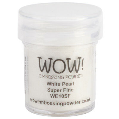 WOW! Embossing Powder Super Fine 15ml-White Pearl