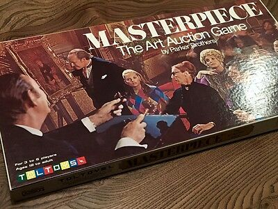 Vintage Toltoys Masterpiece Art Auction Board Game Parker Brothers UNUSED 1970s