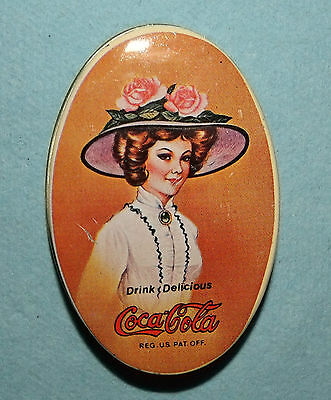Vintage Coca Cola Tin with Small Sewing Kit; Made in Hong Kong; 2 3/4X1 7/8X7/8