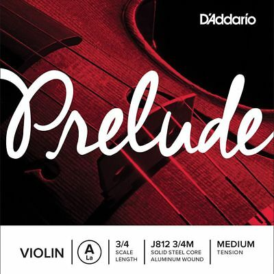D'addario Prelude Violin A String, 3/4 Scale, Medium Tension