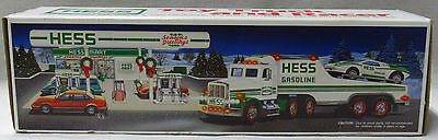 Hess Toy Trucks Vehicles 1991 Toy Trailer Truck and Racer New In Box