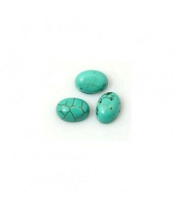 Perles pierre naturelle turquoise ovale 8 x 6 mm (1 pièce)