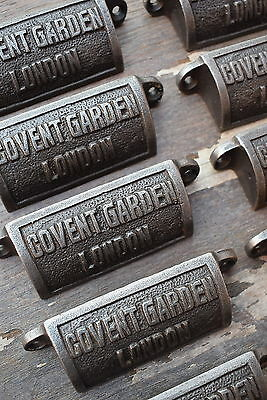 12 Old Vintage Industrial Style Covent Garden Cup Handles drawer pulls knob