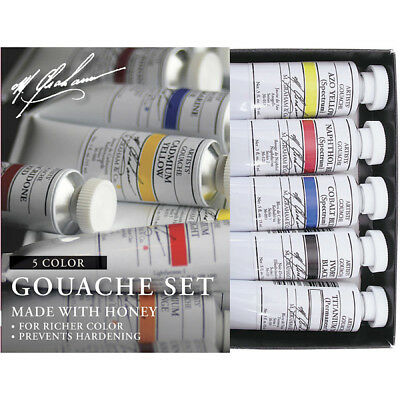 M. Graham Tube Gouache Primary 5 Color Set