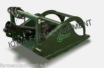 TR3200 TURBO SAW: Tractor 3-Point, PTO Powered Tree Saw w/Grapple: 28-120HP