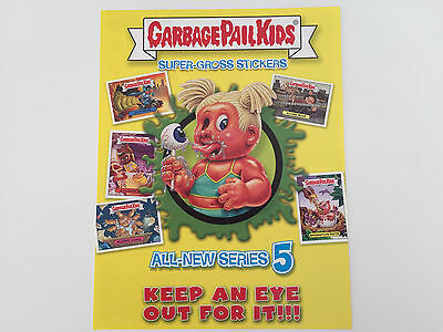 2006 USA Garbage Pail Kids ALL NEW SERIES 5 Promotional Flyer - ANS