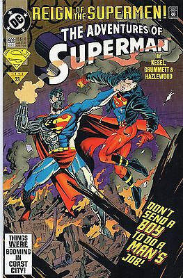 Dc Comics Aug 1993/23 The Adventures Of Superman #503 Reign Of The Supermen!