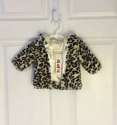 60% Off! New, Unique Baby Leopard Ultra Soft Baby Hoodie Coat, 3-6m