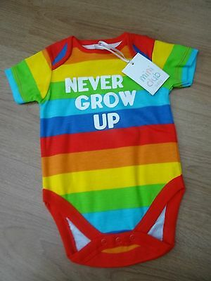 Baby Boys Bnwt Age 0-3 Months Rainbow Vest Top Hippie Mini Club