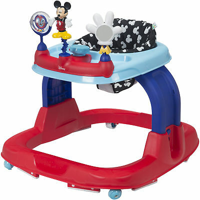 Mickey Mouse Walker Disney Baby Adjustable Activity Snack Toy Tray Sounds Lights